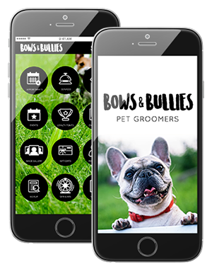 Photo of Complete Pet Grooming Business Custom Branded App Interface on IPhone
